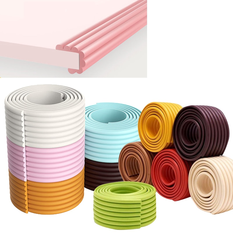 2m children baby protection table guard strip safety products glass edge furniture horror crash bar corner foam bumper collision 2M Baby Safety Protection Strip Table Desk Edge Guard Strip Corner Protector Furniture Corners Children Safety Foam Protection