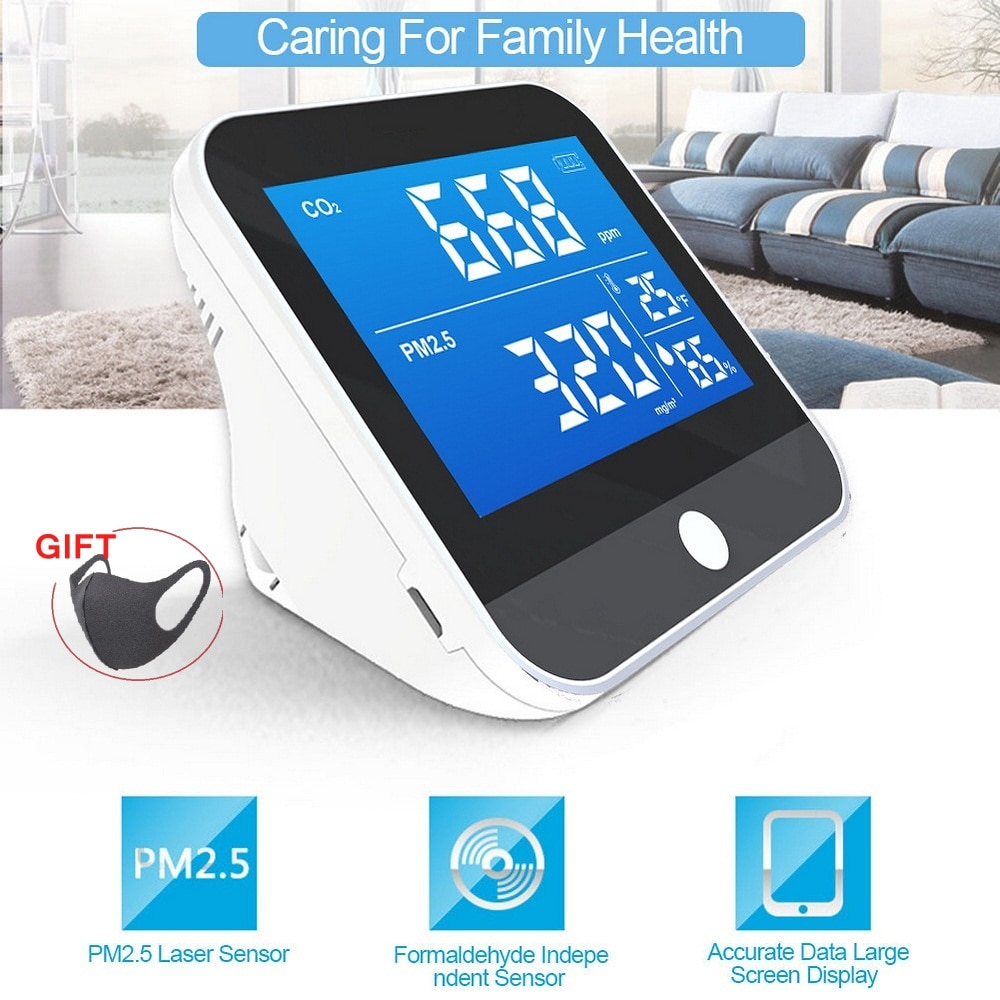 DM306D Air Quality Analysis Tester PM2.5/HCHO/TVOC Temperature Humidity Monitor Gas Detector Analyzer Measuring Tool Smog Meter