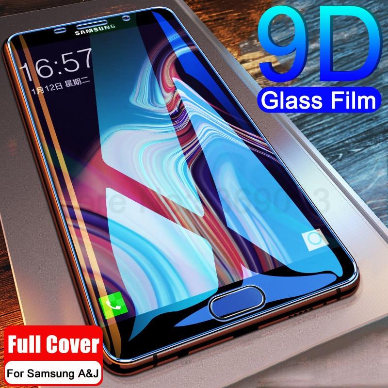 9D Volle Abdeckung Gehärtetem Glas auf die Für Samsung Galaxy A3 A5 A7 2017 J3 J5 J7 2016 2017 Bildschirm schutz Safety Schutz Film
