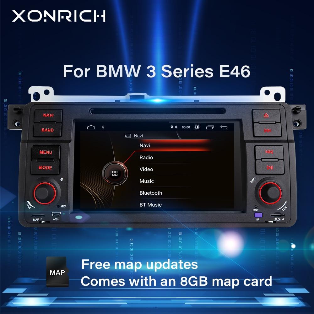 Xonrich1 Din автомобильное радио GPS навигация для BMW E46 M3 Rover 75 Coupe 318/320/325/330 DVD мультимедийный плеер головное устройство стерео аудио