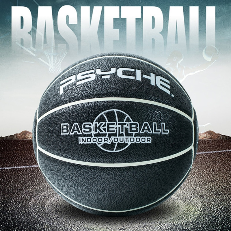 High-Quality Rubber Basketball Size 7 Non-Slip Wear-Resistant Moisture-Absorbing PU Indoor & Outdoor Training Basketball Ball