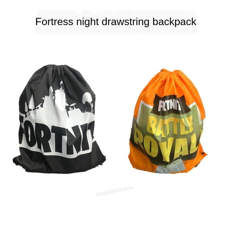 Juego Fortnites Fortress Night mochila con cordón de poliéster Simple bolsa de Cordón portátil al aire libre bolsa de deporte Battle Royale