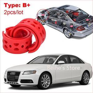 2pcs type B+ Front /Rear Car Shock Absorber Spring Bumper Power Cushion Buffer