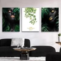 Peinture de feuilles pour fille Sexy  moderne  mode  imprimee sur toile  affiches dart  images murales pour decoration de maison  sans cadre