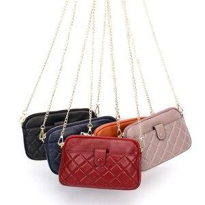 Genuine Leather Women's Chain Bag Luxury Handbags Women Bags Designer Shoulder Bag Messenger Bags Ladies Hand Bags Crossbody Bag