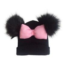 Sombrero de algodón para bebé pequeño, pajarita grande colorida, nudo de mariposa, sombrero Melamed con orejas, accesorios de fotografía para niñas