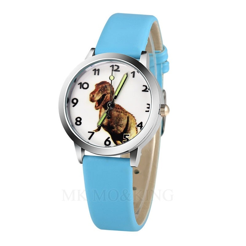 New Arrival High Quality Students Dinosaur Pattern Kids Watches Children Causal Quartz Wristwatch Bo