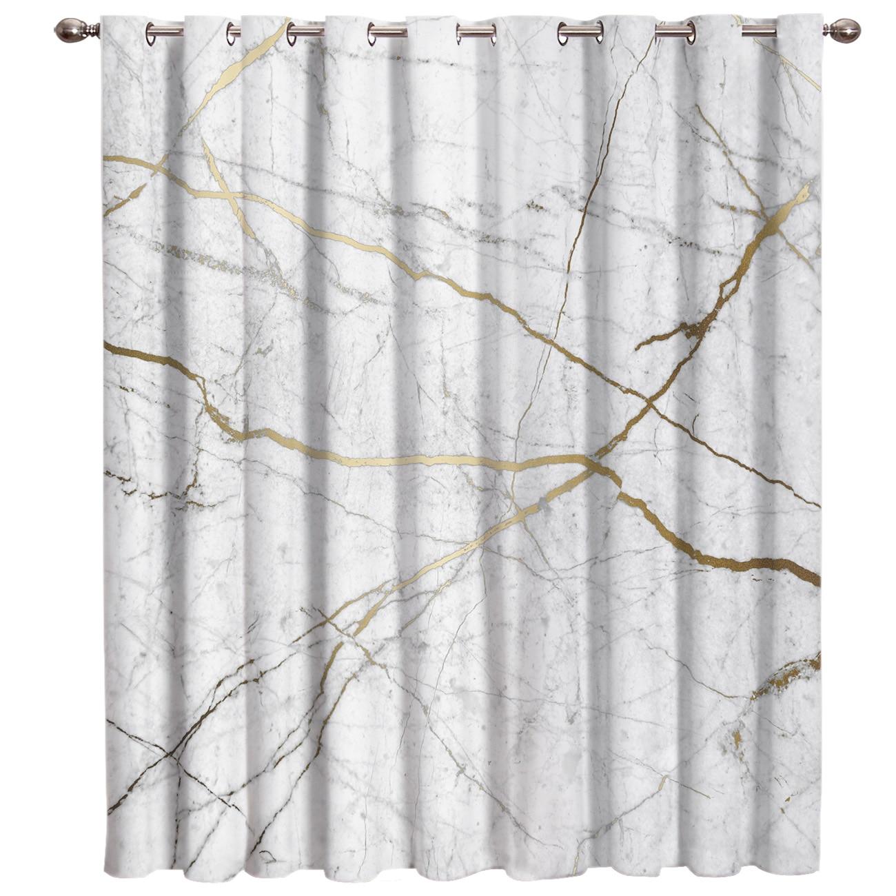 Cortinas de ventana de tendencia de mármol de Flash dorado cortinas de ventana de Valance cortinas de cortina oscura Barra de sala de estar Blackout cocina al aire libre