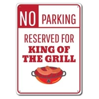 grill sign metal tin sign metal signking of grill gift griller parking sign grilling sign grill lover gift grill master