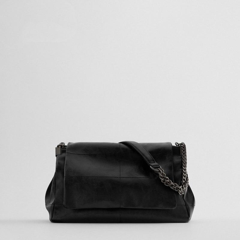 High Quality Female Bag 2020 New Black Rock Style Flip Shoulder Messenger Bag Fashion Niche Design Women Purse and Handbags