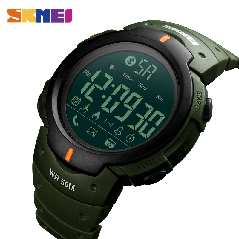 2020 SKMEI Fashion Smart Watch Men Smartwatch Calorie Alarm Clock Bluetooth Watches 5Bar Waterproof  Digital Relogio Masculino