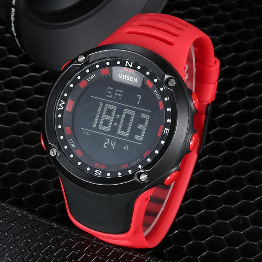 Digitale LED mode Männer uhr relogio masculino stoppuhr Rot elektronische wasserdichte sport armbanduhr mode militär uhren