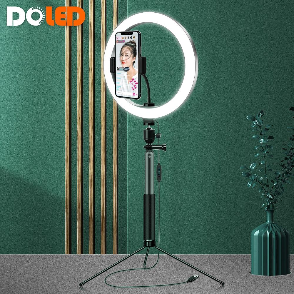Anel de Luz Ringlight com Suporte do Telefone Lâmpada para Youtube Polegada Maquiagem Selfie Círculo Tik Tok Vídeo Vlog Acessórios 10 26cm Led