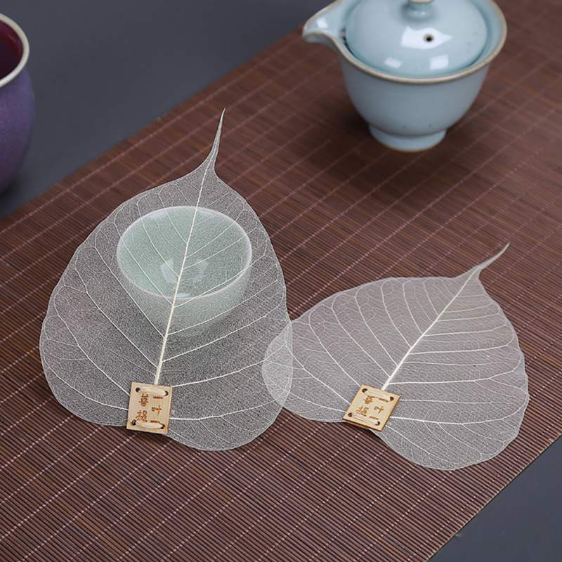 Filtro de té de hoja Bodhi creativo marcador de libro de En forma de hoja de malla reutilizable té suelto Natural Filtro de especias colador cocina Teaware H