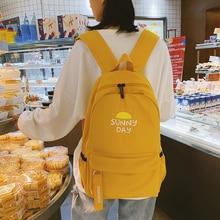 Schoolbag Female Korean Version Original Residence Ulzzang Junior High School Student Backpack Canvas College Style Ins XO-041