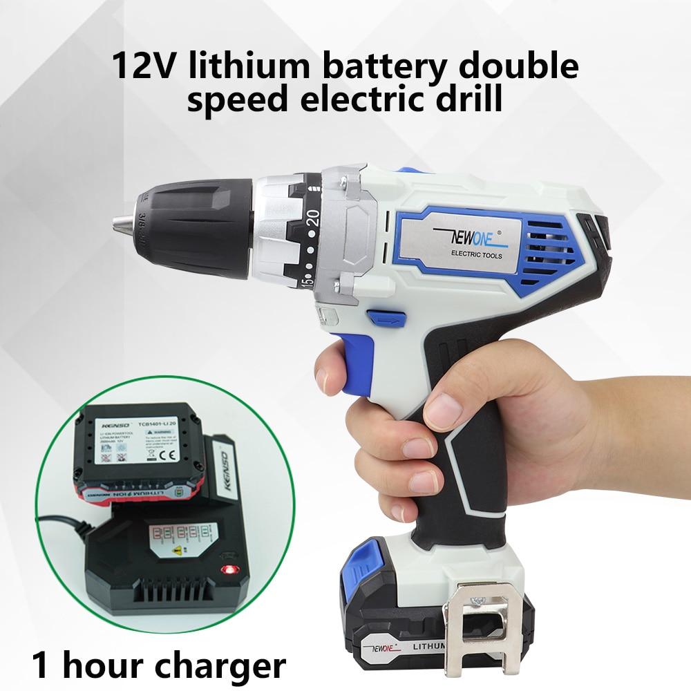 Herramientas Eléctricas de 12V taladro eléctrico inalámbrico destornillador Mini taladro eléctrico perforación con batería de litio Bloqueo de husillo de 2 velocidades