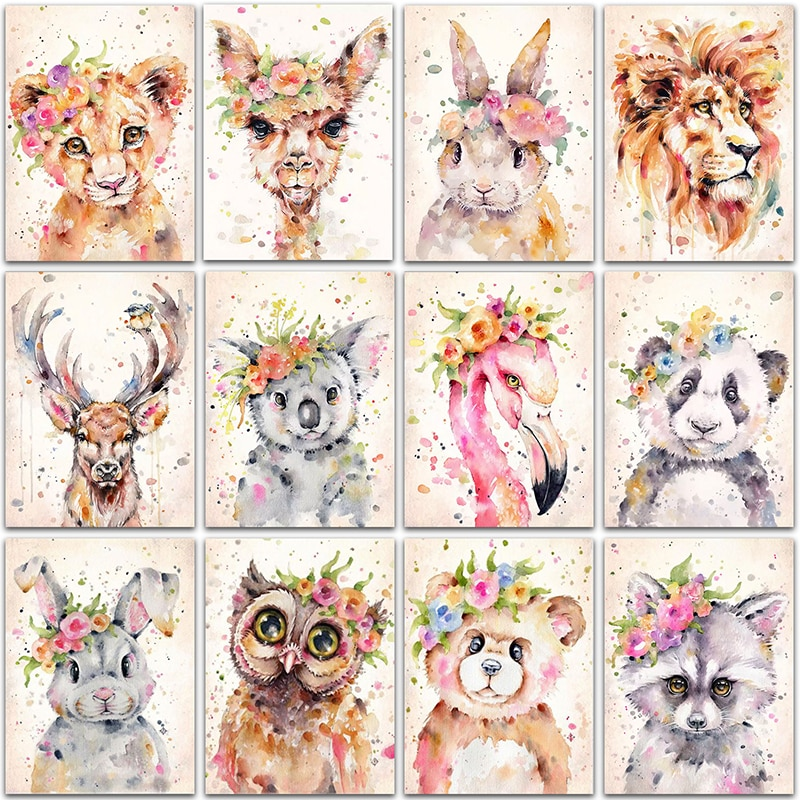 5D DIY Diamond Painting animal lion panda rabbit Flamingo Full Square&Round Diamond embroidery Cross stitch Diamond mosaic paint