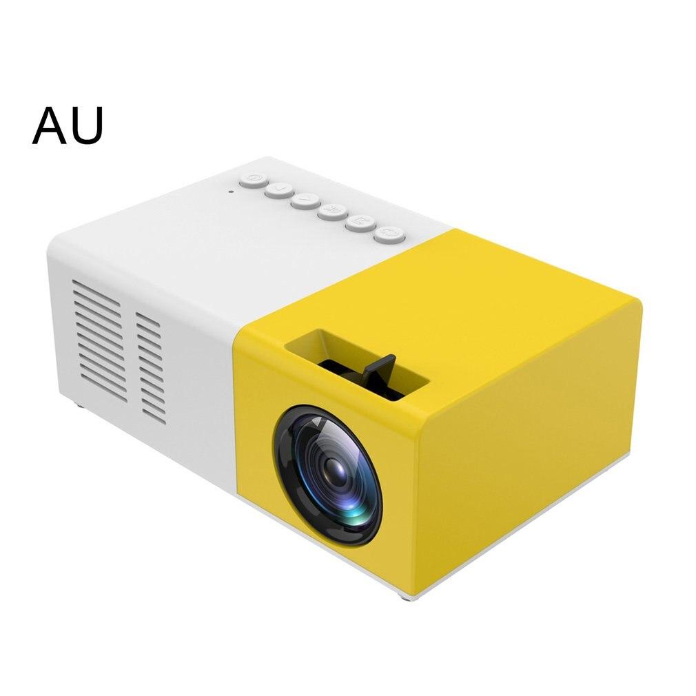 جهاز عرض محمول ثلاثي الأبعاد HD LED سينما المسرح المنزلي 1080p HDMI USB الصوت العارض Yg300 جهاز عرض صغير كامارا Masanori