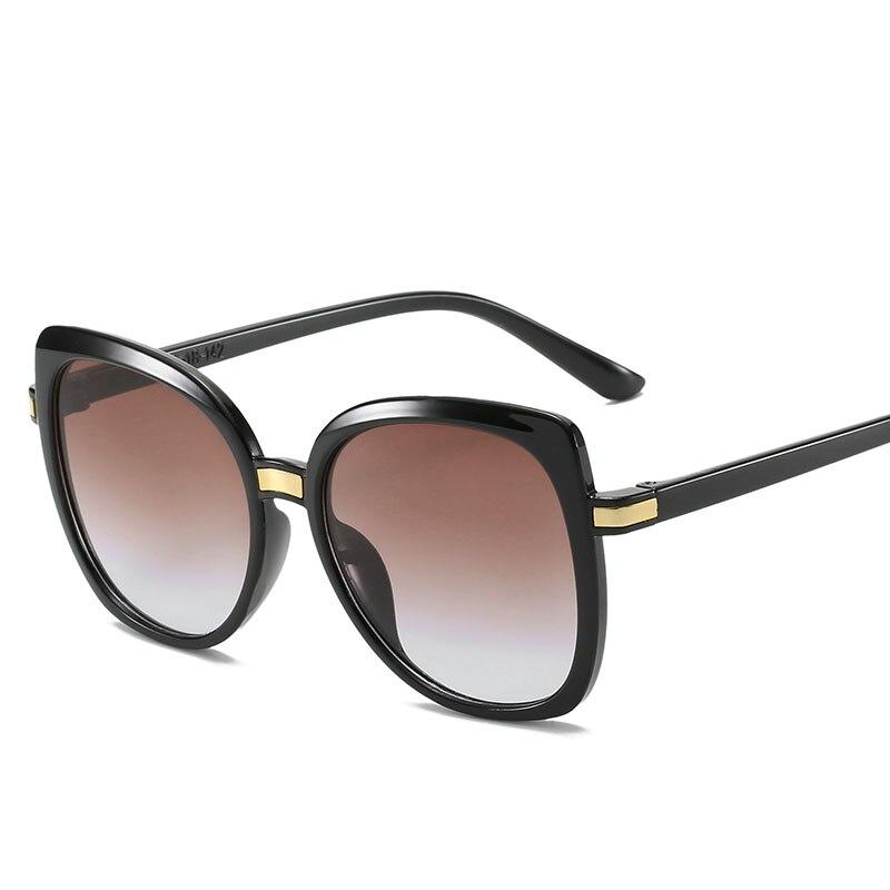 2020 New Cat Eye Women Sunglasses Tinted Color Lens Vintage Shaped Sun Glasses Female Eyewear Blue S