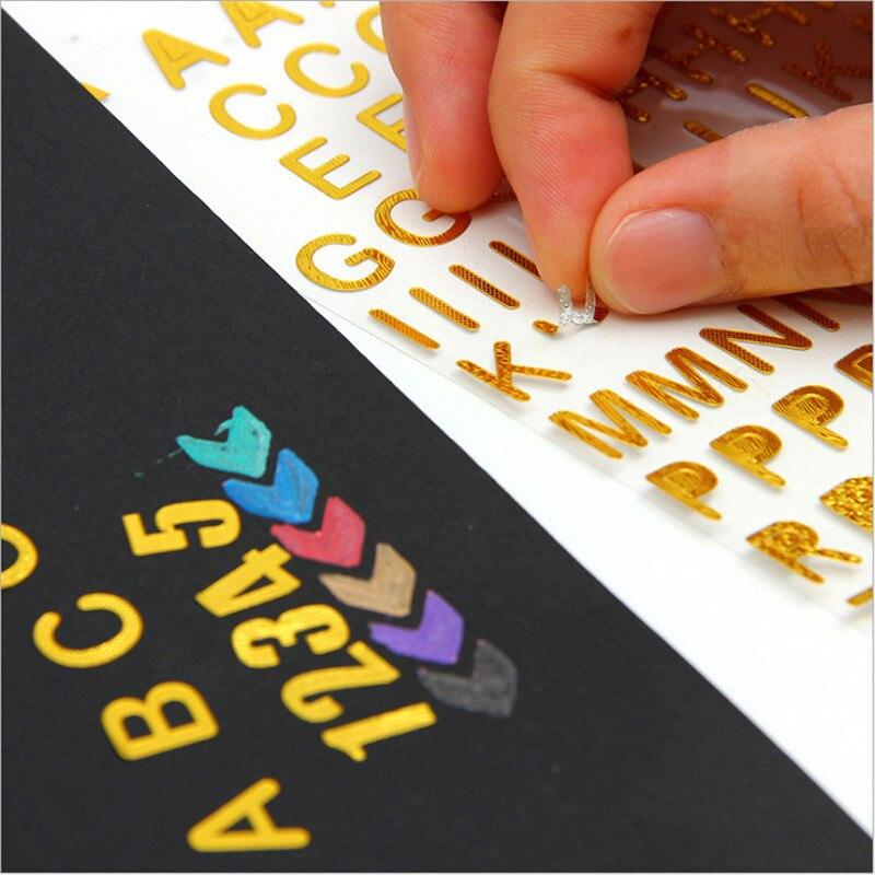 624 Uds./(6 hojas) diy bronceador adhesivo decorativo pegatinas de papel para álbumes de fotos álbum de recortes para decoración de Marcos envío gratis