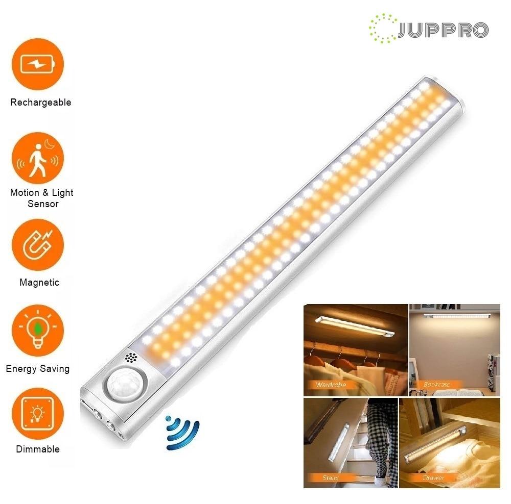 LED مصباح الخزانة إضاءة الخزانة اللاسلكية المطبخ مصباح PIR محس حركة USB قابلة للشحن الجدار مصباح ل Bedrom الحمام الخلفية