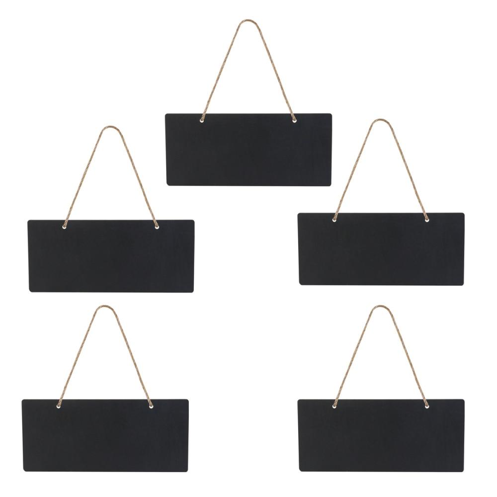 5 шт. мини прямоугольные Меловые доски односторонние черные доски для доски объявлений