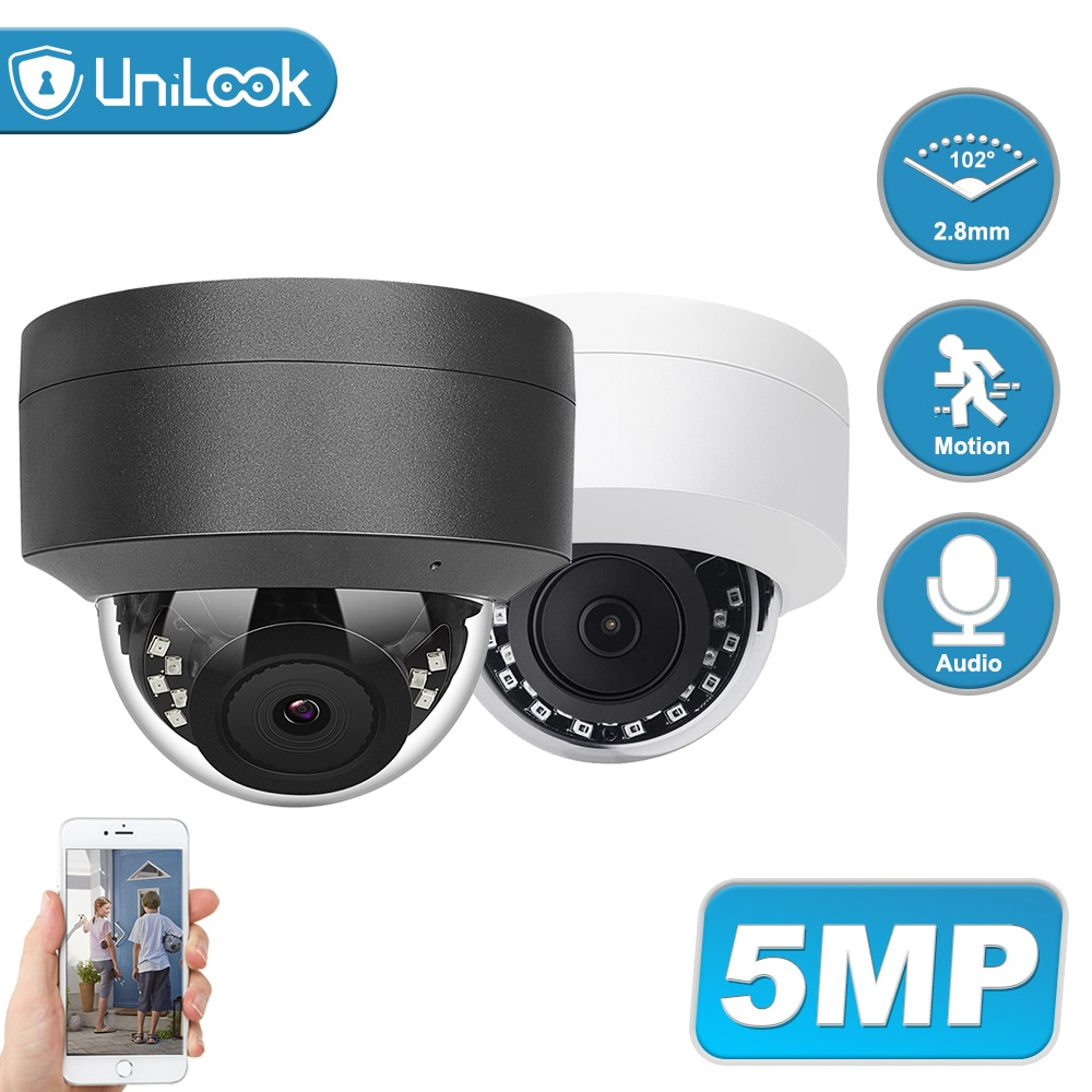 UniLook 5MP POE IP Camera Outdoor Security Camera Built in Microphone Night Vision Hikvision Compatible CCTV Camera ONVIF H.265 5mp bullet poe ip camera built in microphone sd card slot cctv security cctv camera ip66 night vision h 265 onvif p2p