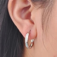 healthcare weight loss hoop earrings slimming chakra stainless steel healthy stimulation acupoint gallstone fashion earrings