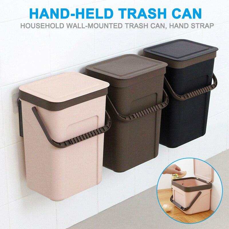 2019 neue Mülleimer Küche Wand Montiert Mülltonne Recycling Kompost Bin Bad Mülleimer L9 #2