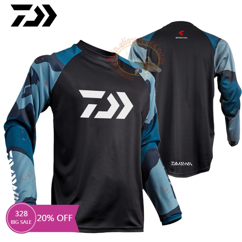 2021 New DAIWA DAWA Fishing Clothing Spring Long Sleeve Deep Sea Sunscreen Breathable Clothes Anti-UV Ultrathin Fishing Shirt