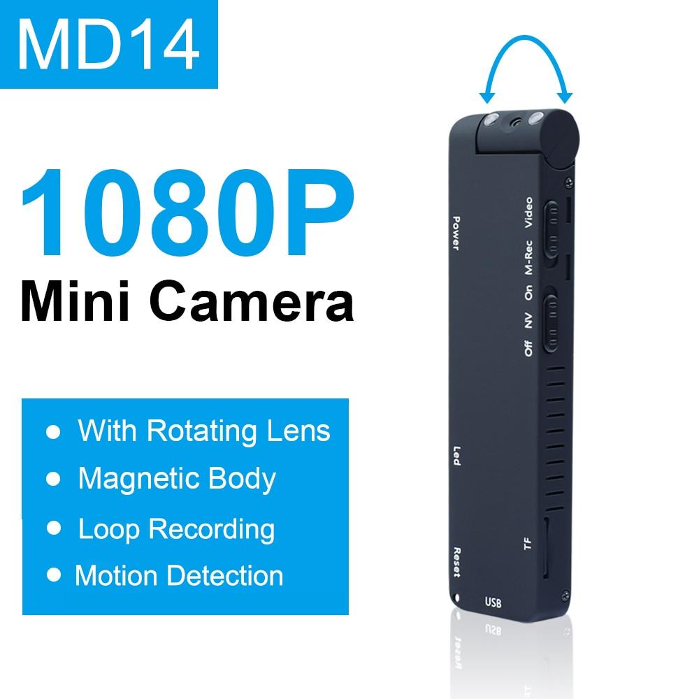 MD14L البسيطة كاميرا 1080P مايكرو كاميرا HD للرؤية الليلية 1080P الجوي الرياضة الذكية DV صوت الرياضة مايكرو كاميرا