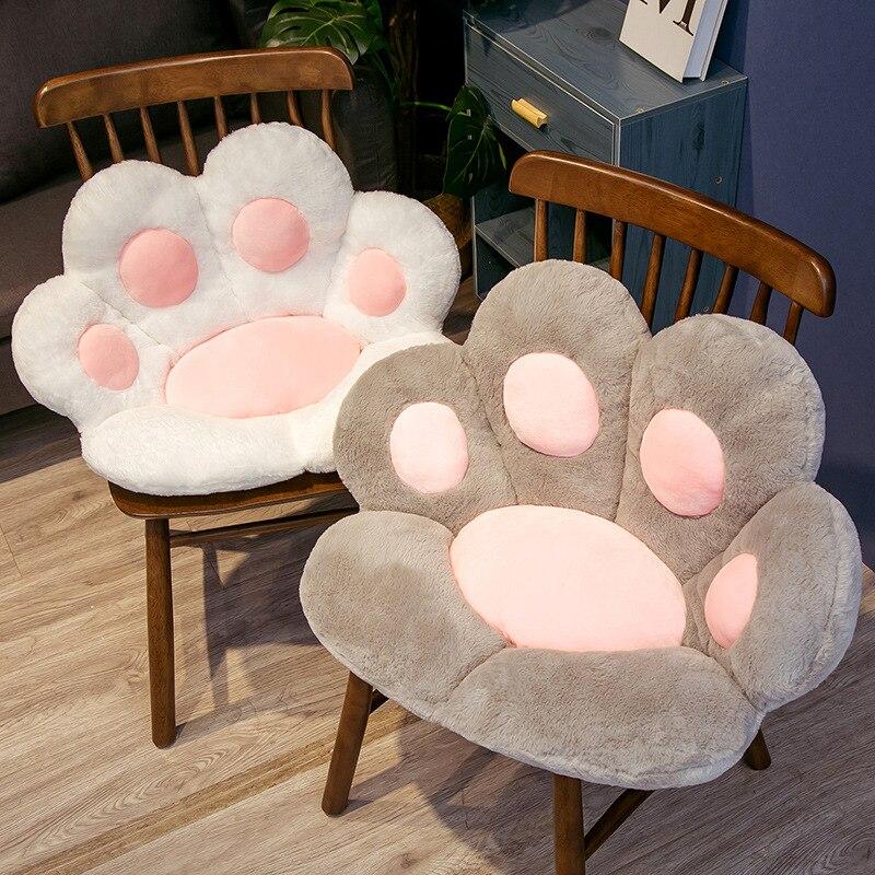 لطيف القط باو أفخم مخدة كرسي الحيوان الطفل وسادة مقعد أريكة الظهر الوسائد حصيرة المنزل أريكة ارضيات داخلية الشتاء ديكور هدية