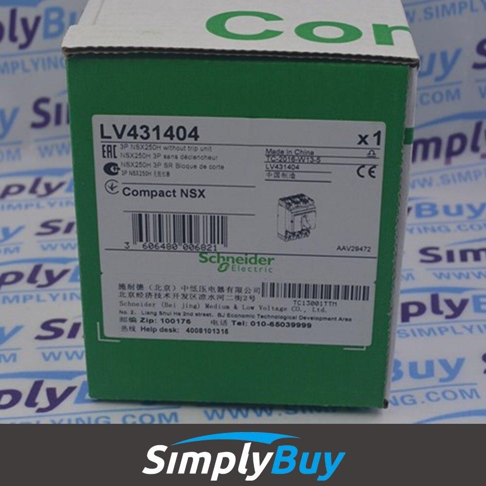 Compact NSX100/160/250 Breaker Body NSX250H (70kA ) LV431404 NSX250H - 250 A - 3 poles - without trip unit