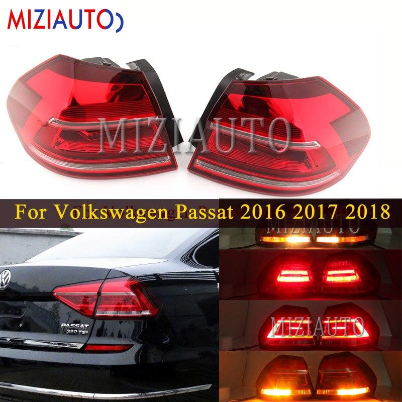 Hinten schwanz licht Äußere seite Für Volkswagen Passat 2016 2017 2018 Schwanz Stop Bremse Stoßstange Lichter Hinten blinker Nebel lampe