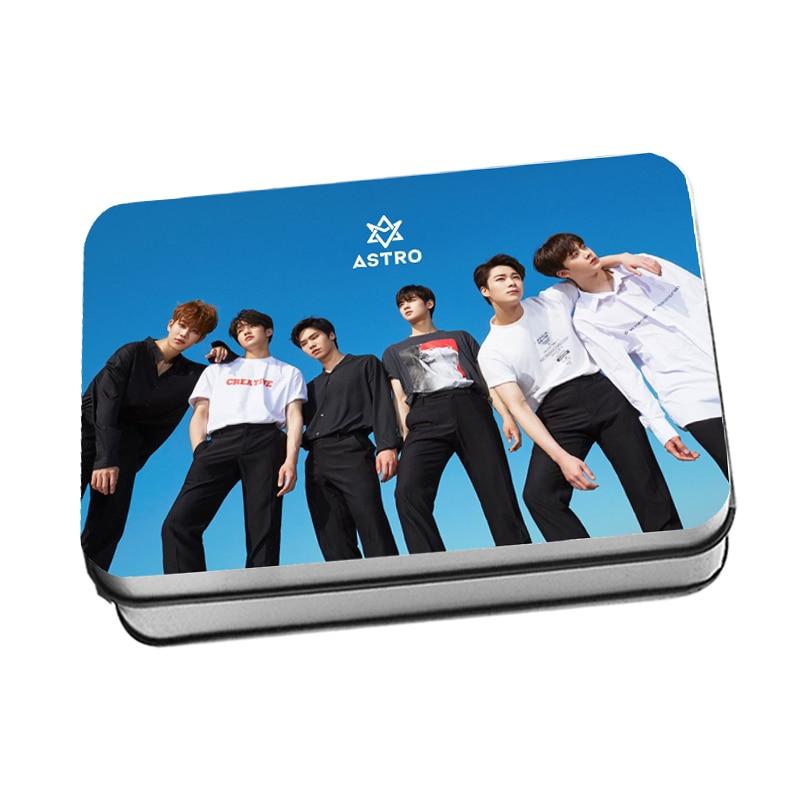 Kpop astro especial mini álbum  polaroid foto lomo cartão K-POP astro fãs presentes caixa de metal 40 pçs/caixa transporte da gota