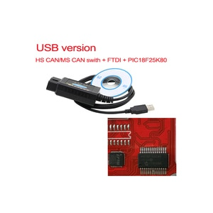Image 3 - PIC1825K80 ELM327 USB V1.5 для чипа Ford FTDI с переключателем HS/MS OBD 2 CAN для автомобильного диагностического инструмента Forscan и elm 327 Версия usb