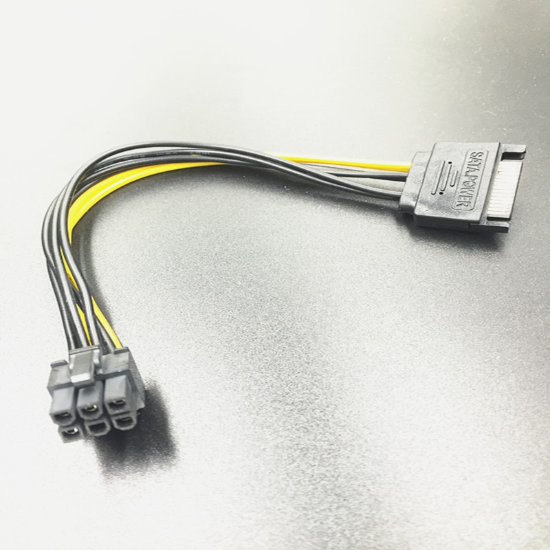 LP57-Cable de alimentación SATA macho a 4 pines, IDE Molex, hembra, 15...