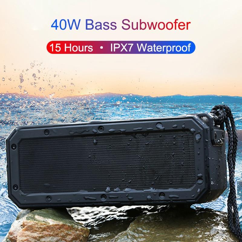 40W Portable Bluetooth Speaker Box Bass Subwoofer Wireless Speakers Super Stereo Type-C Waterproof Music Boombox Louderspeaker