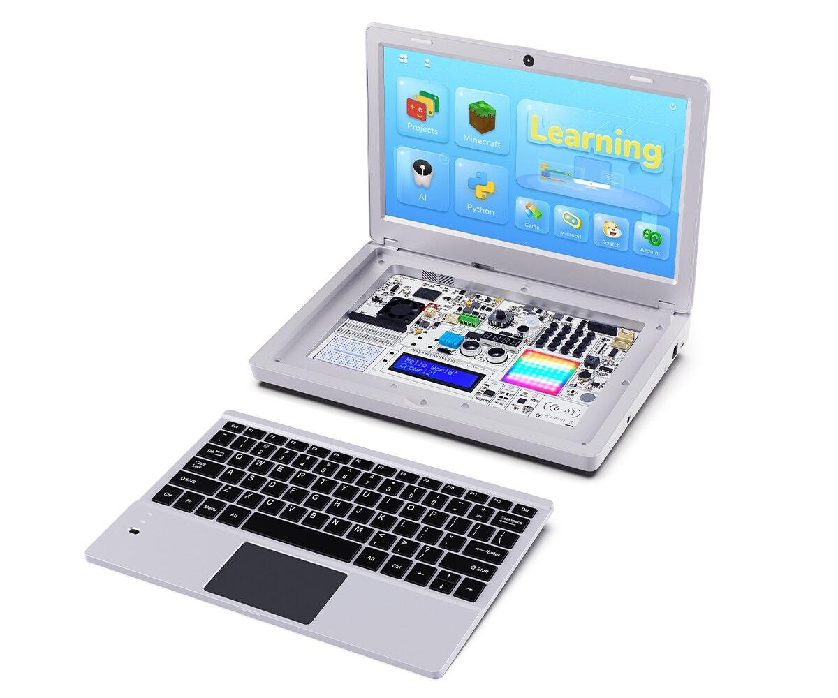 Elecrow CrowPi2 11.6 Inch Raspberry Pi Laptop 1920*1080 IPS Screen LCD Display DIY Programming Learning Kit