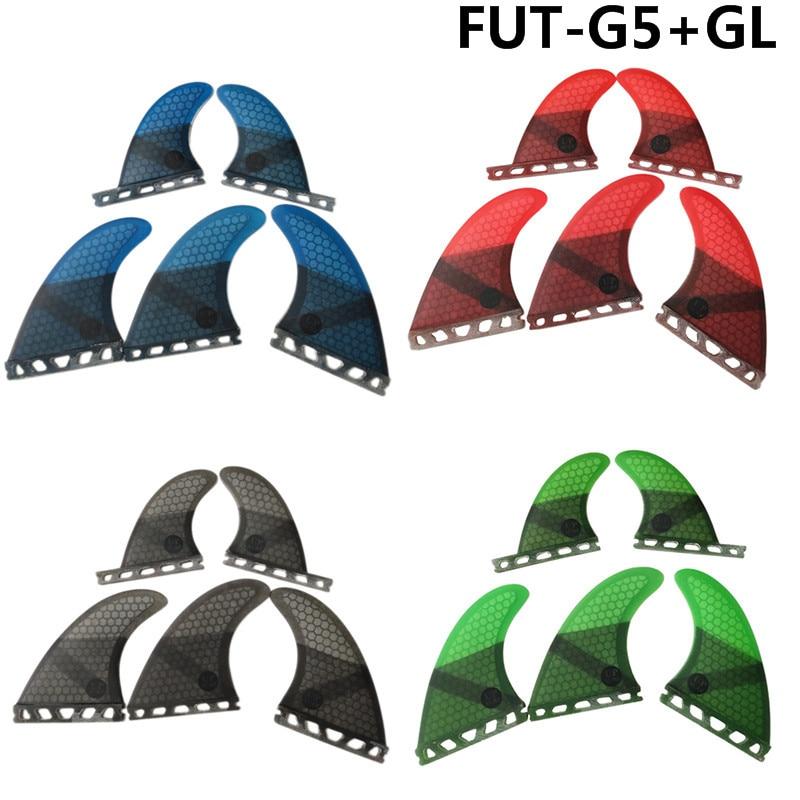 Surf Fins Tri-quad fin set Future G5+GL fins surfboard 4 color surf Honeycomb Fiberglass