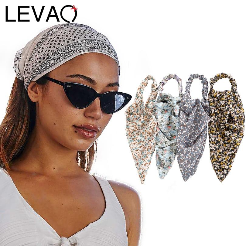 Diadema LEVAO para mujer, diadema con pintura al óleo, diadema de Color, turbante, accesorios para el cabello para niñas, diadema elástica Floral de leopardo con margaritas