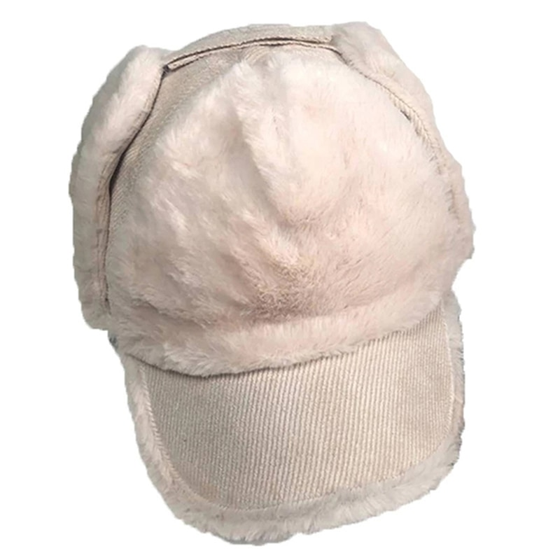 Korean version of the autumn and winter wild warm plush Lei Feng hat ski flying cap ear protection b