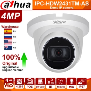 Dahua IP Camera Original Starlight IPC-HDW2431TM-AS 4MP HD POE Built in Mic Audio SD Card Slot H.265 IP67 IR 30M IVS Turret IPC