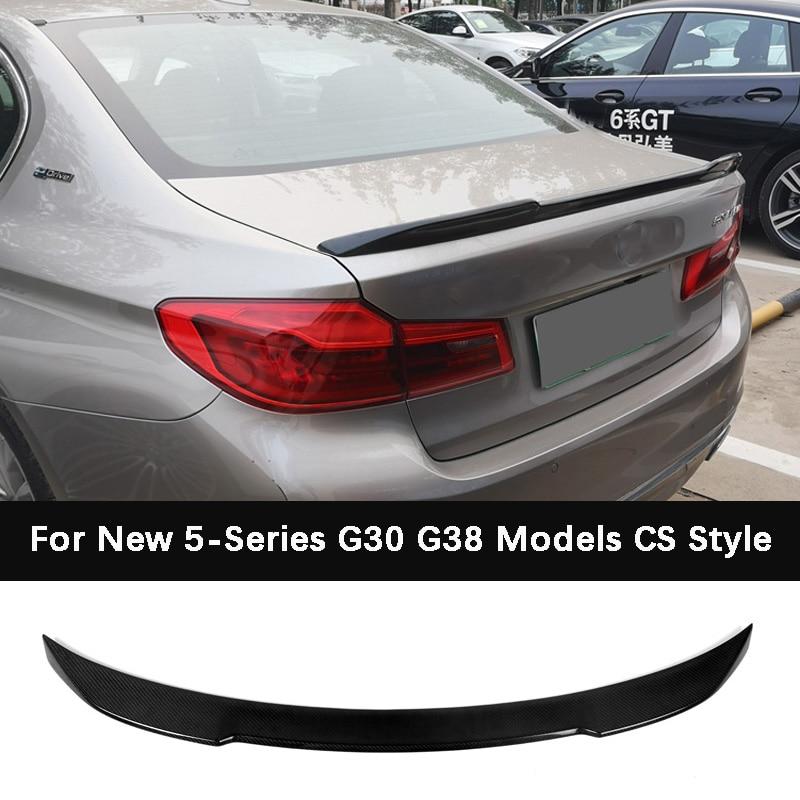 CS Style Carbon fiber Trunk Rear Bumper Spoiler For BMW 5 Series G30 G38 525i 530i 540 F90 M5