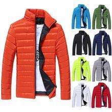 Chaquetas de invierno Parkas de colores sólidos para hombre Parkas de manga larga de cuello alto Abrigo acolchado de algodón cálido chaqueta S-LM abrigo de hombre erkek mon