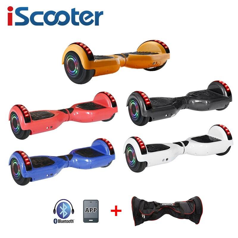 IBoard 6,5 pulgadas con aplicación inteligente Hoverboard dos ruedas auto equilibrio Scooter Hoverboard con bolsa de transporte Bluetooth certificado UL