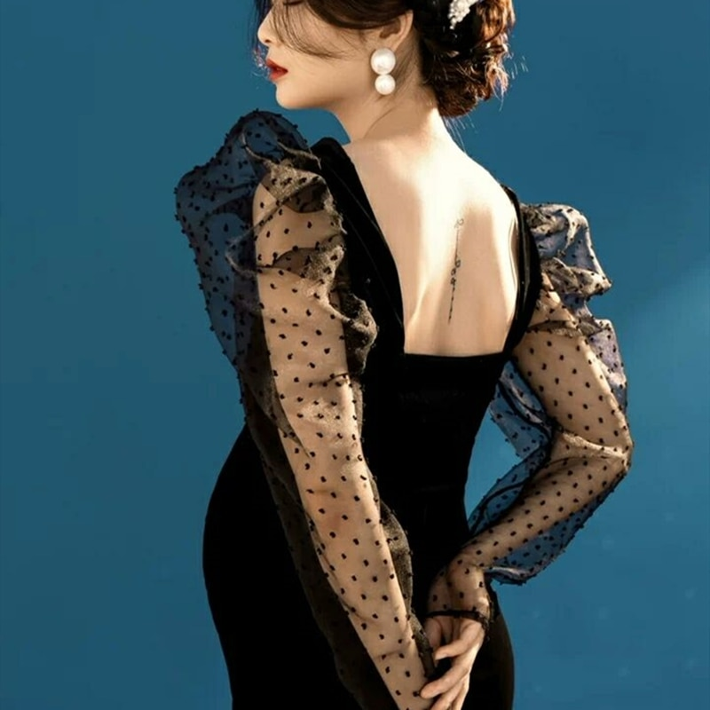 Photography Props Maternity Dresss For Pregnant Women Photo Shooting Maxi Dresses Black Lace Sleve Pregnancy Maxi Dresses Clothe
