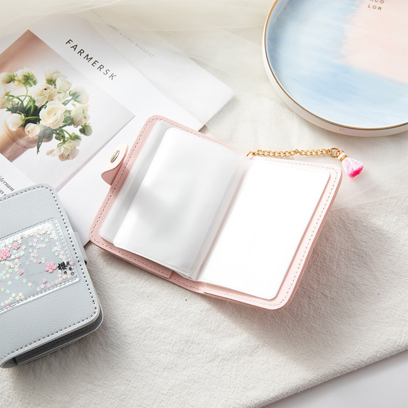 Cute Women's Card Holder Multi-Card Position Fashion Trend Wallet Personality Ultra-thin Small Business Card Holder 2021 New