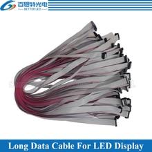 10 teile/los Verzinnt Kupfer 50 cm, 80cm Lange Flache Draht/Hub Kabel Verzinnt Kupfer Daten kabel für Led-anzeige