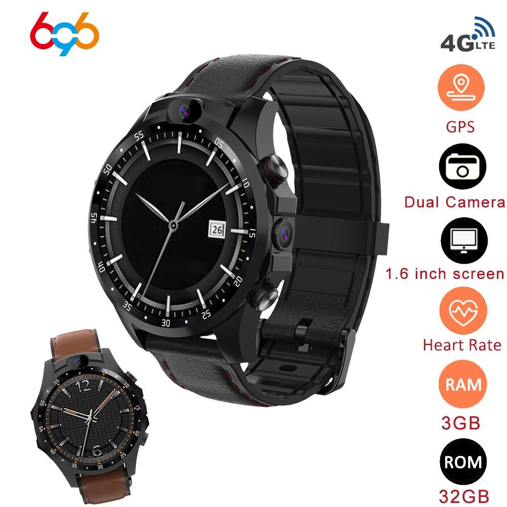 V9 4G Smart Watch Phone 32GB GPS Android 7,1 SIM 5MP Cámara 1,56 pulgadas 800mAh impermeable deporte Smartwatch hombres responder llamada reloj M